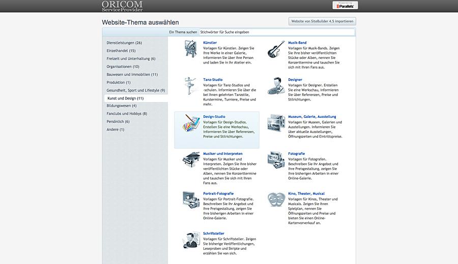 Oricom Serviceprovider Hosting Server Domain Oricom